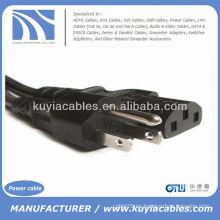 Nuevo estándar USA 3 Prong cable de cable de alimentación de CA para impresoras Ordenadores de sobremesa de PC