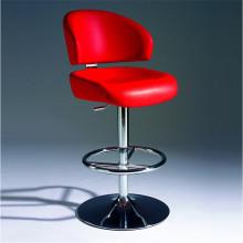 Modren cómoda PU silla de cuero de la barra con la pierna del cromo (SP-HBC369)