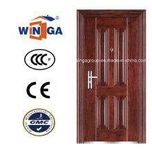 Panneau de façade extérieure à l'extérieur de la porte métallique en acier au bois (WS-108)