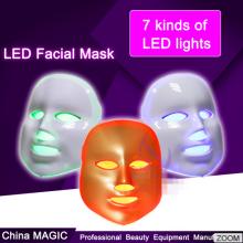 llevó la Máscara Facial de led piel rejuvenecimiento luz mágica
