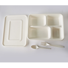 customized disposable sugarcane bagasse fiber lunch box bamboo paper pulp fast food takeaway container