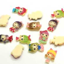 Hotsale Little Girl Princess Assorted Cute Resin Cabochon Flatbacks Kawaii Hair Bows Center Crafts Diy