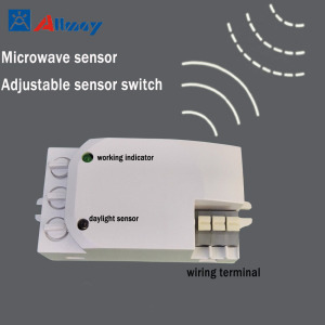 Adjustable Microwave Motion Sensor Lighting Switch 200w