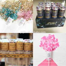 100% Safe Push Pop Confetti Party Popper Gender Reveal Confetti Cannon