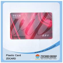 Custom Printing Transparent Plastic Gift Card