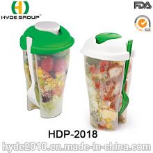 Venta al por mayor para ir a la taza de la coctelera de ensalada con la bifurcación (HDP-2018)
