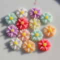 Candy Color Acrylic Resin Daisy Flower Charm Beads 13MM