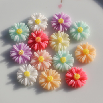 Candy Color Acrylhars Daisy Flower Charm Beads 13MM