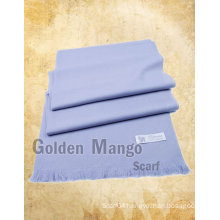 Plain color wool pashmina shawl