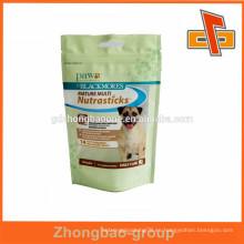 Acepte el bolso de empaquetado del alimento del perro del standup de la orden de encargo con la cremallera en guangzhou