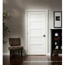 Puerta interior de patrón decorativo de madera blanca moderna