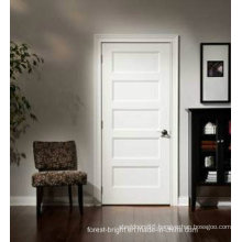 Modern White Wood Decorative Pattern Interior Door