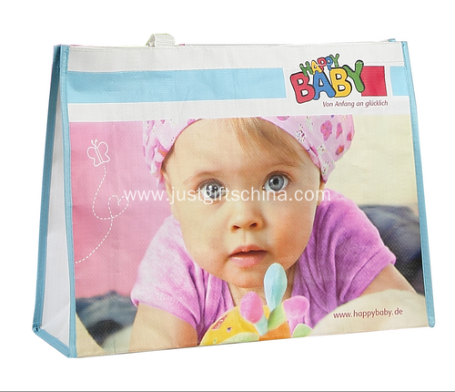 Promotional Woven Laminated Shopping Bags With PP Handles
