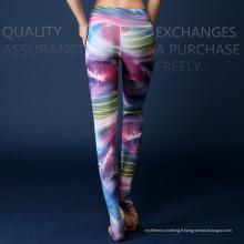Collants de compression à base de yoga colorés respirants de 2016 Fitness