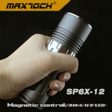 Maxtoch SP6X-12 Aircraft-grade Cree U2 AA Magnetic Control Flashlight