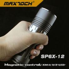 Maxtoch SP6X-12-classe dos aviões Cree lanterna AA controle magnético de U2