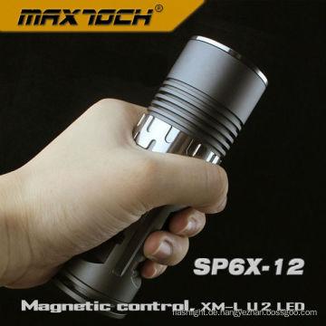 Maxtoch SP6X-12 Aircraft-Grade Cree U2 AA magnetische Kontrolle Taschenlampe