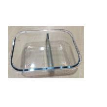 Boîte de rangement en verre avec deux couches