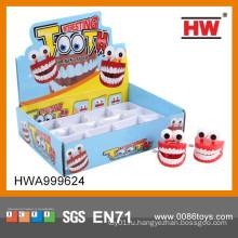 Смешные пластиковые ветра вверх игрушки пластиковые зубы
