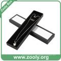 Caja de regalo de joyería de papel negro / caja de collar con tapa