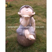 Polyresin Sculpture Statue Gaden Doll Crafts