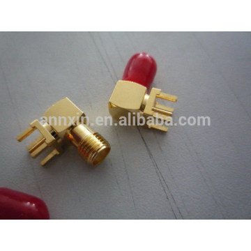 Newest hot selling right angle pcb mount sma connector