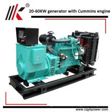 Gerador portátil de alta qualidade menor potência 25 kva 25kva diesel gerador à prova de som conjunto preço com motor Cums