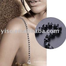 Bracelet en une seule fois en métal noir