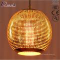 Бронзовый современный круглый металлический Кулон свет ресторан