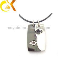 Custom 316L en acier inoxydable bijoux Fashion men pendentifs