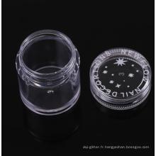 Poudre pour les ongles, pot en plastique de 10g pour pots en poudre à paillettes