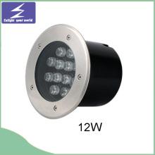 12W 85-265V redonda subterráneo LED enterrado luz