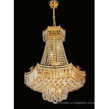Европейский стиль золотой кристалл люстры подвеска свет для дома 6126