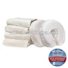 Waschbare Kopflehnenabdeckung aus weißer Baumwolle