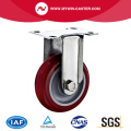Plate Fixed PU Stainless Steel Caster