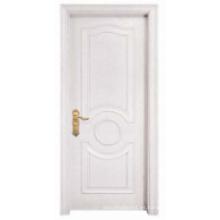 Blanco Diseño simple Puerta de madera sólida