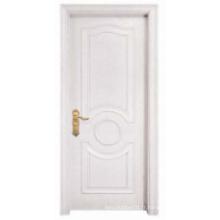 Blanc, simple, conception, solide, bois, porte