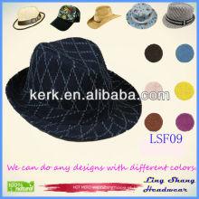 LSF09 2014 Os chapéus verificados do projeto do mens do chapéu do desenhista