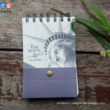 Factory Supply Small Printing Blocs-notes en spirale promotionnels avec bordure