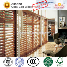 Full height 89mm louver basswood or pvc plantation shutter with L and Z frames