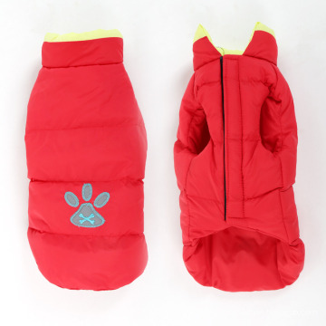 Pet Clothes Autumn and Winter Big Dog Clothes Reflective Bone Double-Sided Cotton Coat