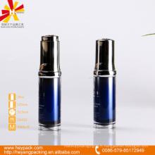 Bouteille à bille acrylique acrylique bleu de 20 ml avec bouchon à vis PP