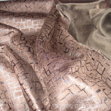 Shiny Bronzing Fabric Polyester Suede Leather for Home Decoration