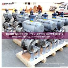 V Válvulas de bola de puerto Materiales estándar disponibles en stock