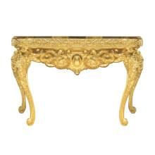 Mesa dourada para mobília do hotel