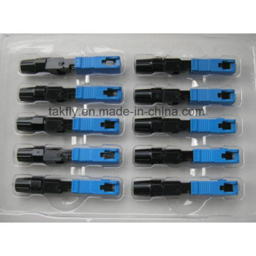 Conector rápido de Sc Upc / conector rápido óptico da fibra