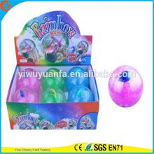 Горячий продавать дети'Gift светодиодный резиновый 100мм мигающий рыба воде надувной мяч