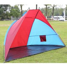 Double tente de camping en plein air