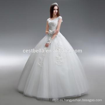 Vestido de bola o princesa amor vestido de organza de la boda hecho en China