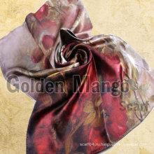2016 последняя мода печать длинные шелковые шарфы